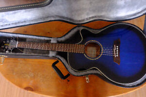 Blue Takamine G series Acoustic Electric Guitar