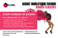 Adult Dance Classes - BURLESQUE FUSION and CONTEMPORARY/JAZZ