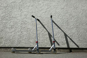 Silver scooters