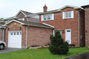 Detached 3 bedroom family home for rent in Ajax