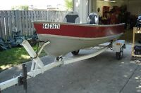 14ft Lund boat and trailer for sale