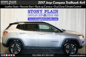 2017 Jeep Compass Trailhawk: LEATHER, REMOTE START, BU CAMERA