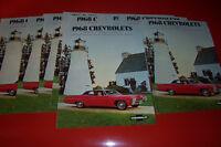 1968 69 GM Dealer Brochures, Corvette Rally wheels 15x8 Rims