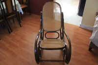 Rattan Wooden Rocking Chair
