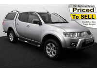 2010(10) MITSUBISHI L200 WARRIOR DI-D AUTO 4x4 ~ HARD TOP ~ NO VAT TO PAY