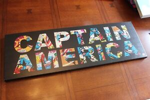 Captain America Wooden Wall Art