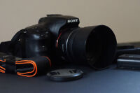 Sony a57 camera with 35mm lens