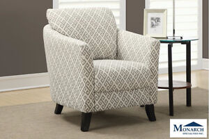Brand NEW Sandstone Grey Accent Chair! Call 780-437-0808!