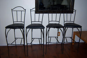 4 Bar Height Chairs . 30' seat height