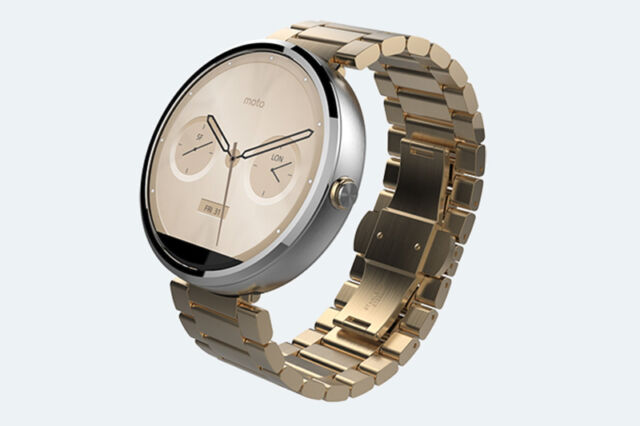 Moto 360 Champagne Gold Special Edition SmartWatch