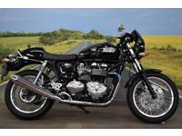 Triumph Thruxton **Bar End Mirrors, Grab Rail, Seat Cover**