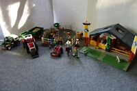 Playmobil - Farm Themed Set with tractor, horse barn and jeep