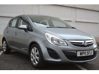 2011 VAUXHALL CORSA EXCLUSIV AC 1.4 SILVER 5DRS HATCHBACK