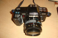 Minolta 7000 SLR Camera with Lens plus cokin plus filters