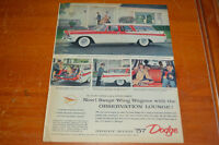 ANONCE 1957 DODGE CUSTOM SIERRA WAGON AD