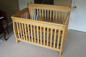 4-in-1 baby crib, plus large dresser/change table combo