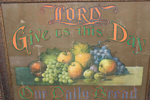 "Old ""Lord Give Us This Daily Bread"" Print London Ontario image 2"