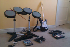 Complete system! Rock Band Special Edt. + modded PS2 + games