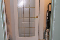 Continental style interior doors in excellent condition