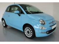 2015 BLUE FIAT 500 1.2 LOUNGE PETROL MANUAL 3DR HATCH CAR FINANCE FR £112 PCM