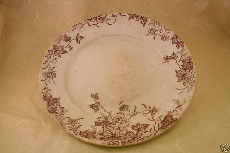 "ANTIQUE  EDWIN J.D. BODLEY CHINA PLATE 8"" IVY PATTERN"