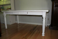 PAINTED PINE DINING ROOM TABLE