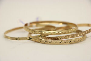 Beautiful 10K Yellow Gold Bangles - Separately Priced (#18042