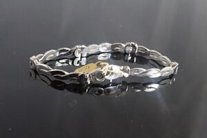 BRAND NEW IN BOX SOLID SILVER STAMPED UNISEX BRECELET