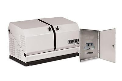 Champion 12.5kw 720cc Standby Generator W 200amp Transfer Switch 100291