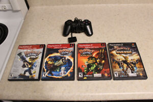Ratchet and Clank games + 1 Controller
