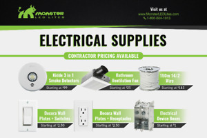 Electrical Supplies @ Amazing Pricing starting at $1.00