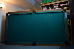 Slightly Used Pool Table + Ping Pong Top