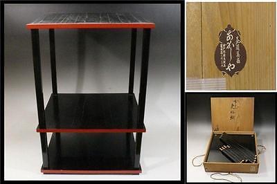 #7 Japanese KOUKOUDANA SHOSAI wooden rack Assembly type shelf