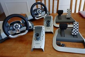 Two XBOX 360 Racing Steering and Pedals Excellent Condition