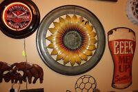 Round Sunflower metal Art