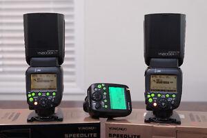 2 x YONGNUO YN600EX-RT & 1 x YN E3 RT 2.4G Speedlite Canon