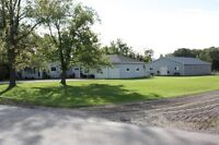 Horse ready Hobby Farm on 4.66 acres sandy loam  with show barn