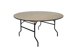 Heavy duty 60 inch round polywood folding tables