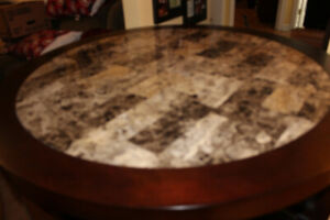 Man Cave or Home Bar Pub Table with Four Stools