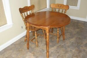 Round Drop Leaf  Table and Matching Chairs