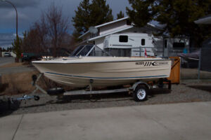 16ft Fibreglass boat and Trailer