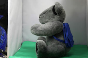 Soft cuddly Grey Teddy Bear fully moveable joints, & backpack Kingston Kingston Area image 2