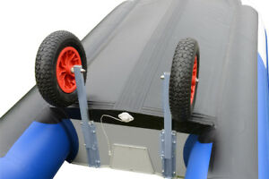 removable dinghy wheels, launching wheels , boat wheels