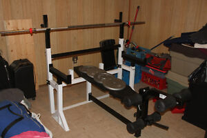 Versatile workout bench in great condition
