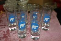 6 NEW ARCTIC SHOT GLASSES (from Inuvik)