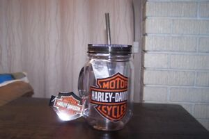 Brand New Licenced Harley Davidson 20oz Insulated Mason Jar