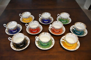 10 Royal Albert Cups and Saucers