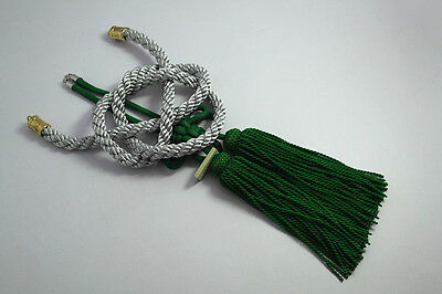 2 In 1 Chinese Green Kiku Knot Silvery Kin Rope In-Car Rearview Mirror Hang Act