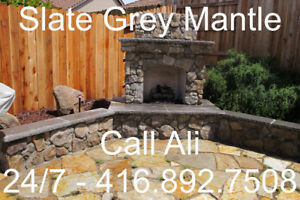 Slate Grey Fireplace Mantel Dark Grey Mantel Stone Mantels