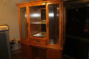 Beautiful oak display cabinet